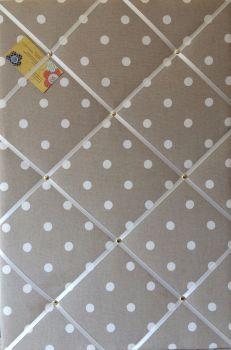Extra Large 90x60cm Cath Kidston Stone Spot Fabric Notice / Pin / Memo / Memory Board