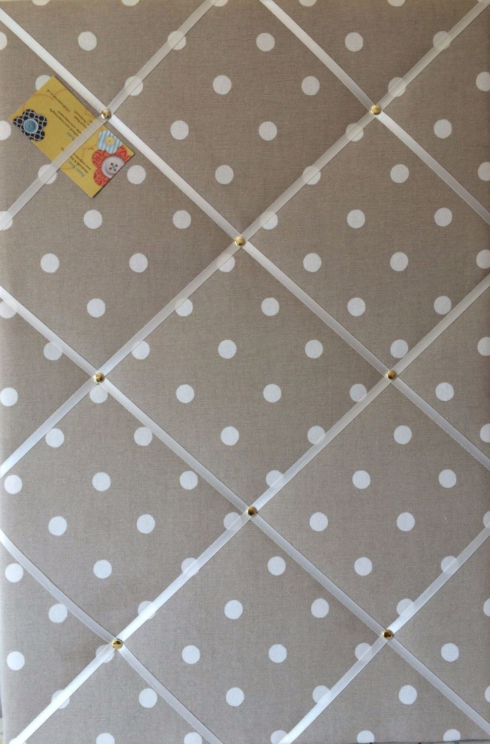 Extra Large 90x60cm Cath Kidston Stone Spot Fabric Notice / Pin / Memo / Me