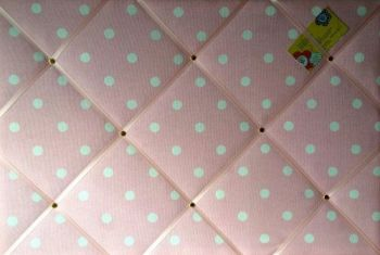 Extra Large 90x60cm Cath Kidston Pink Spot Fabric Notice / Pin / Memo / Memory Board