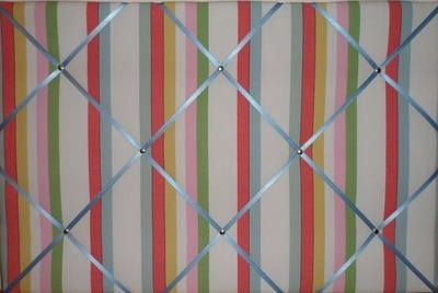 Medium 40x30cm Cath Kidston Woven Deck Stripe Hand Crafted Fabric Notice /