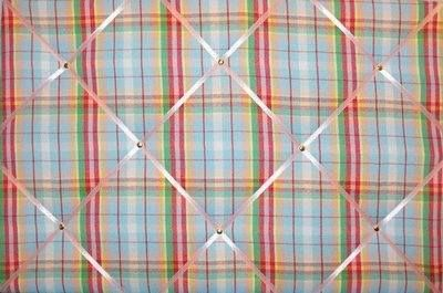 Medium 40x30cm Cath Kidston Woven Check Hand Crafted Fabric Notice / Pin /