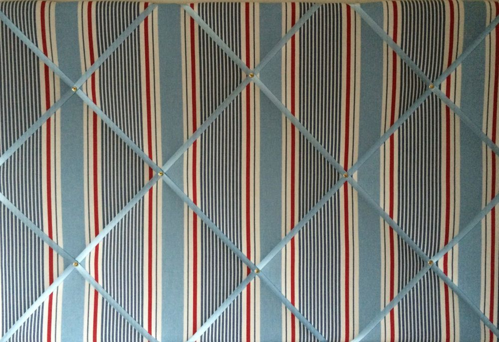 Large 60X40cm Clarke & Clarke Marine Sail Stripe Nautical Hand Crafted Fabr