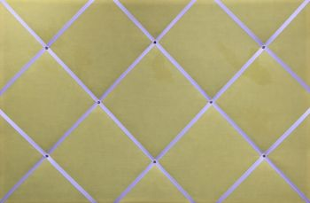 Extra Large 60x90cm Yellow With White Ribbon Fabric Pin / Memo / Notice / Memory Board