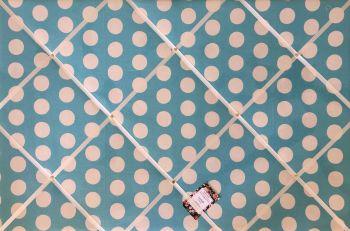 Extra Large 90x60cm Cath Kidston Big Blue Spot Fabric Notice / Pin / Memo / Memory Board