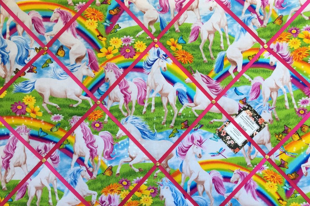 Large 60x40cm Timeless Treasures Unicorn Rainbow Hand Crafted Fabric Notice