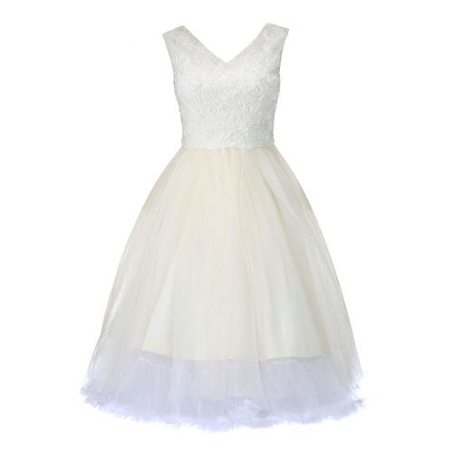 LINDY BOP 'Anais' Cream Vintage Style Occasion Party Prom Wedding Dress