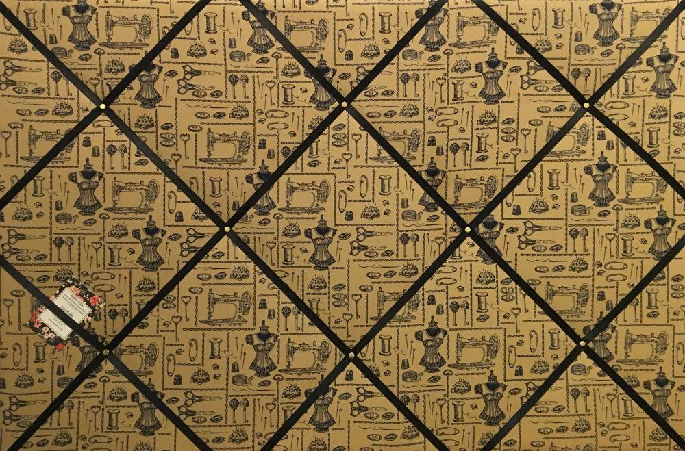 Custom Handmade Bespoke Fabric Pin/Memo / Notice/Photo Cork Memo Board With