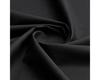 Plain Polycotton Fabric 44 inch By The Metre Black