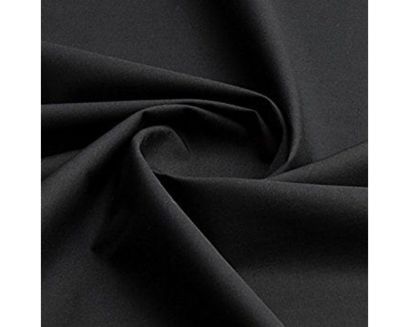 Plain Polycotton 44 inch By The Metre Black