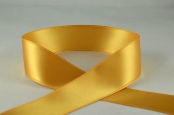Double Sided Satin Ribbon 7mm 25 Metre Reel Or By The Metre in Gold