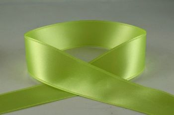 Double Sided Satin Ribbon 10mm 25 Metre Reel Or By The Metre in Light Green 62