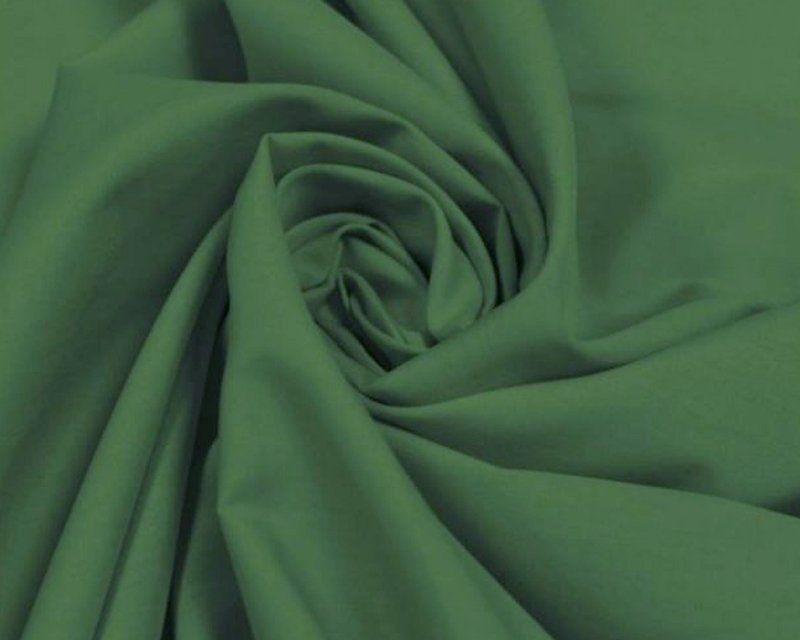Plain Polycotton Fabric 44 inch By The Metre Bottle Green