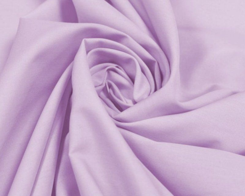 Plain Poly Cotton Fabric 44 inch By The Metre Lilac