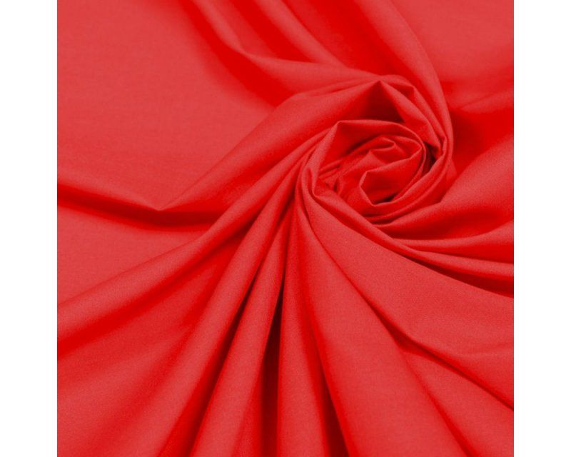 Plain Poly Cotton Fabric 44 inch By The Metre Red
