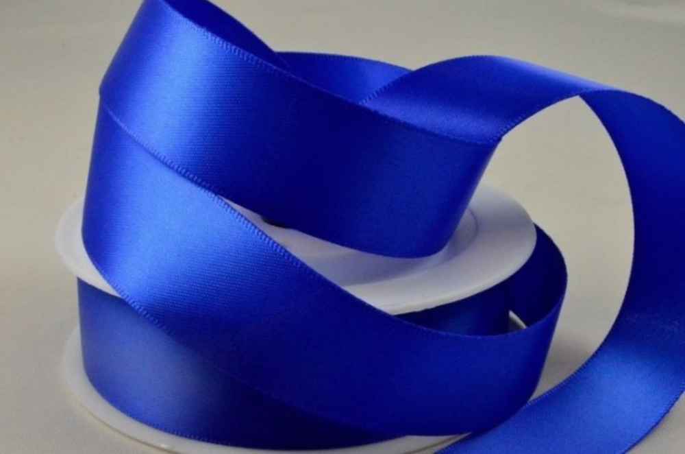 Double Sided Satin Ribbon 7mm 25 Metre Reel Or By The Metre in Royal Blue