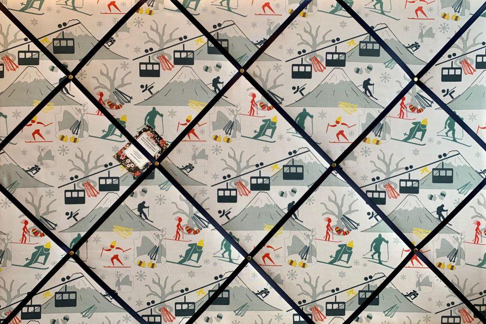 Custom Handmade Bespoke Fabric Pin Memo Notice Photo Cork Memo Board Ski Li