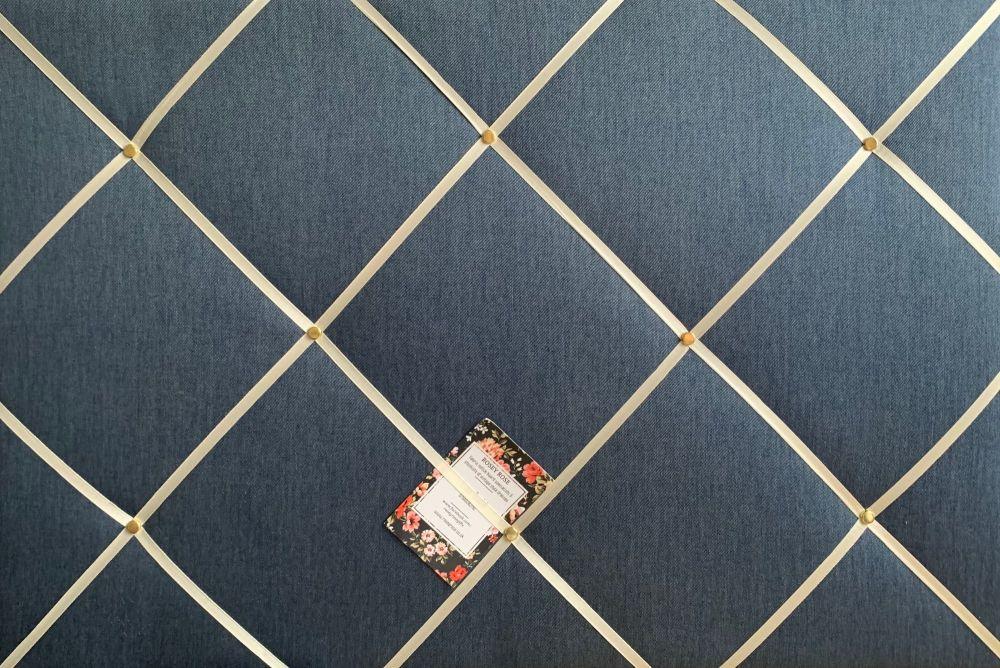 Custom Handmade Bespoke Fabric Pin Memo Notice Photo Cork Memo Board With V