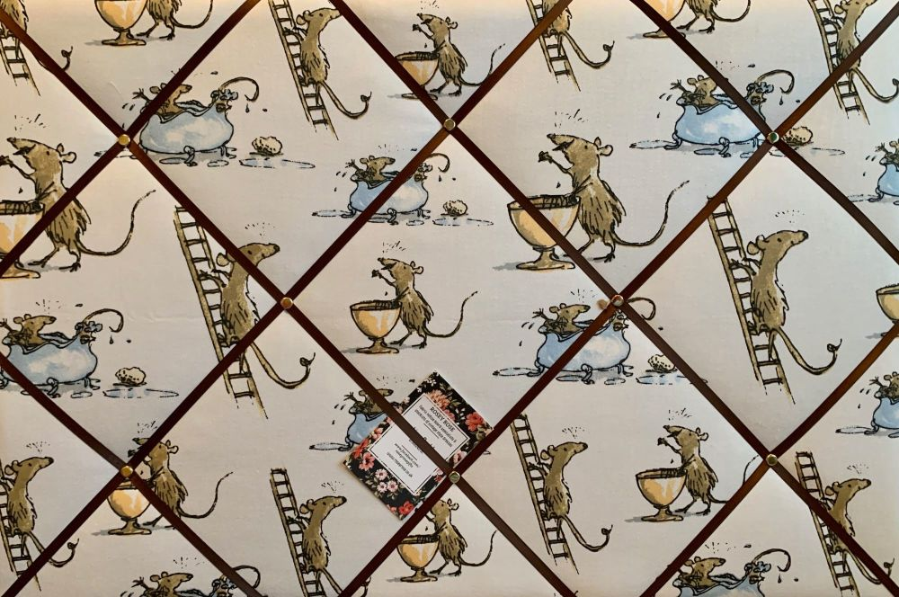 Custom Handmade Bespoke Fabric Pin Memo Notice Photo Cork Memo Board Roald