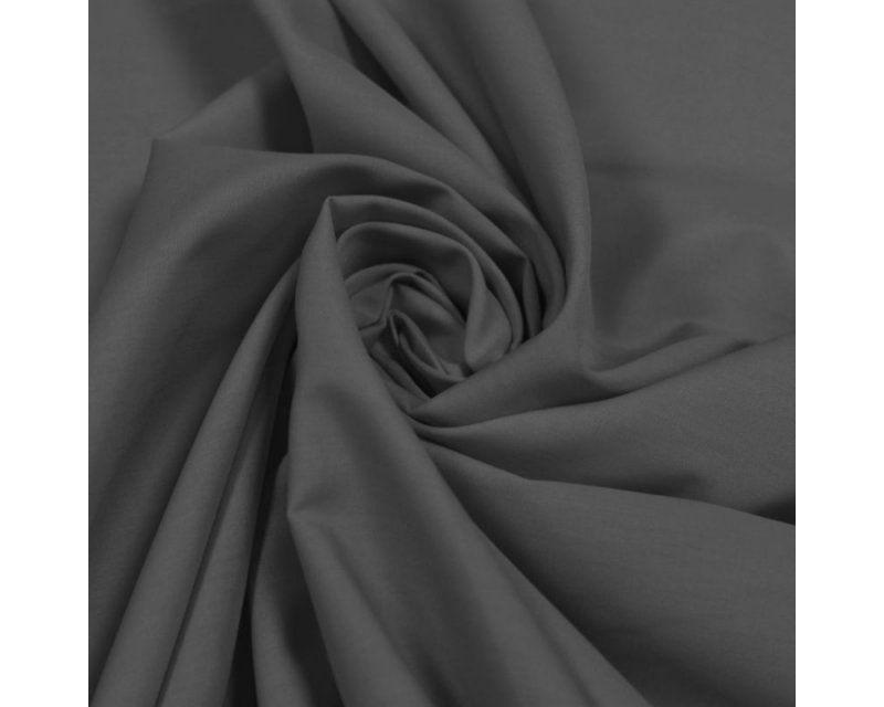 Plain Polycotton Fabric 44 inch By The Metre Dark Charcoal Grey