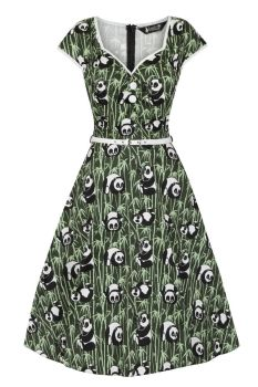 Lady Vintage Isabella Green Panda Eyes Retro 50s Vintage Style Dress Sizes 8-30 FREE DELIVERY
