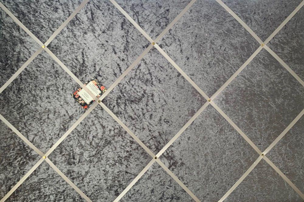 Custom Handmade Bespoke Fabric Pin Memo Notice Photo Cork Board With Dark G