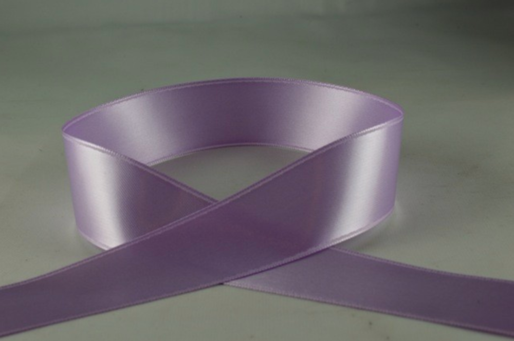 Double Sided Satin Ribbon 7mm 25 Metre Reel Or By The Metre in Lilac