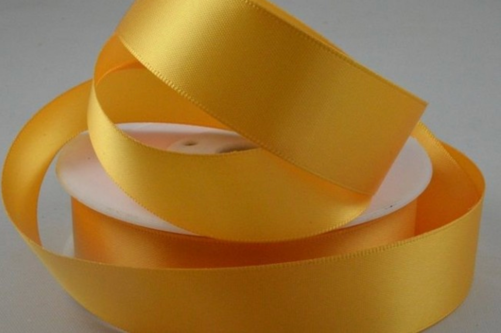 Double Sided Satin Ribbon 7mm 25 Metre Reel Or By The Metre in Rustic Orang