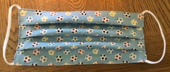 Adult's Handcrafted Reusable Washable Fabric Face Mask Covering Raising Money For Mind Blue Footballs & Cath Kidston Stars