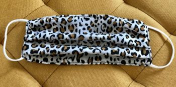 Adult's Handcrafted Reusable Washable Fabric Face Mask Covering Raising Money For Mind Zebra & Leopard Print