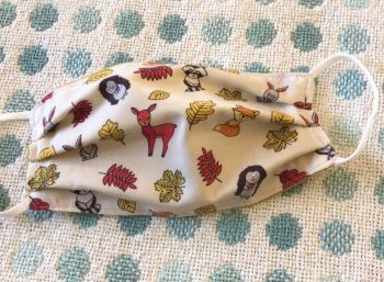 Adult's Handcrafted Reusable Washable Fabric Face Mask Covering Raising Money For Mind Forest Animals & Mustard