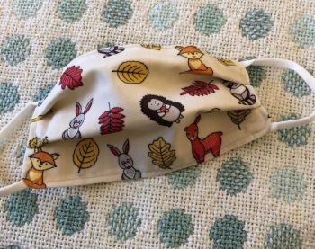 Kid's Handcrafted Reusable Washable Fabric Face Mask Covering Raising Money For Mind Forest Animals