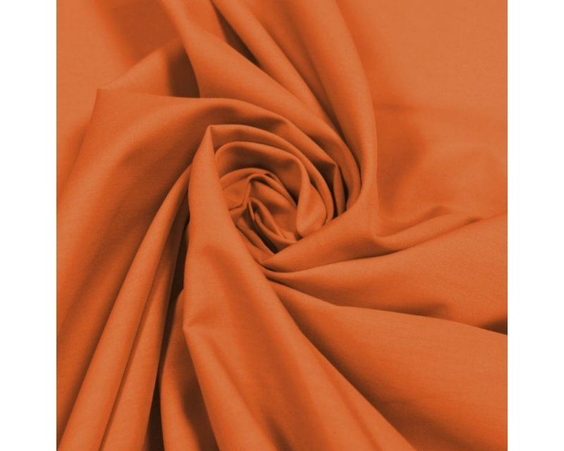 Plain Poly Cotton Fabric 44 inch By The Metre Orange