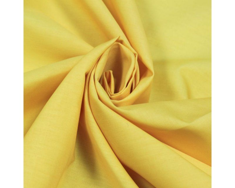 Plain Poly Cotton Fabric 44 inch By The Metre Yellow