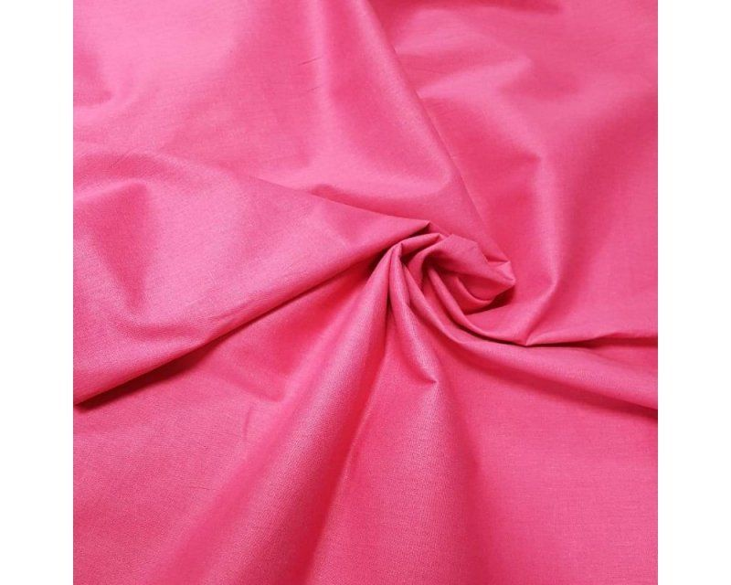 Plain 60 SQ 100% Cotton Cerise Pink 58