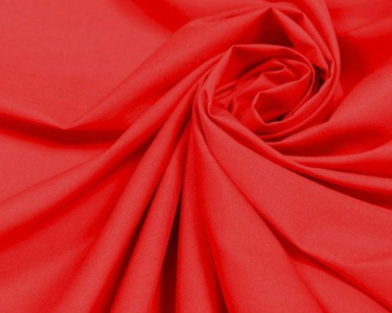 Plain 80/20 Polycotton Fabric 112cm By The Metre Red FREE DELIVERY