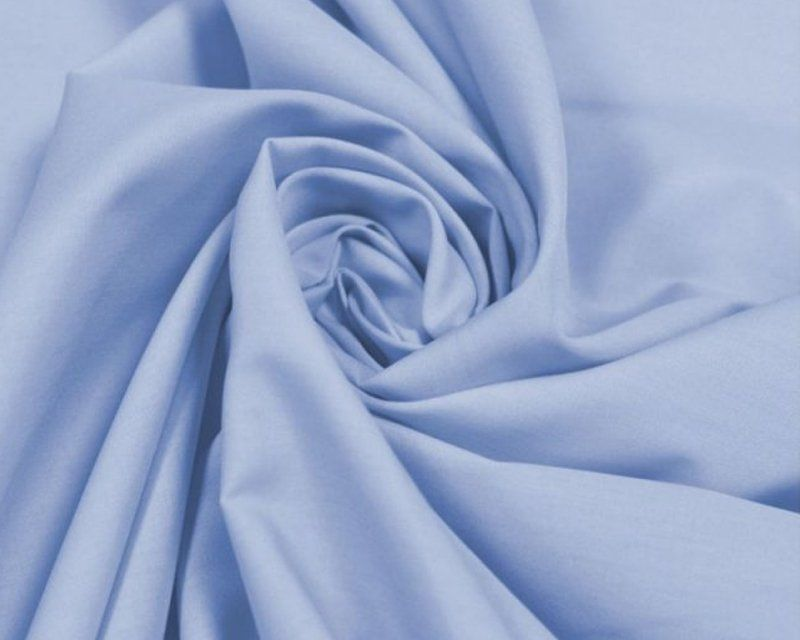 Plain 80/20 Polycotton Fabric 112cm By The Metre Sky Blue FREE DELIVERY