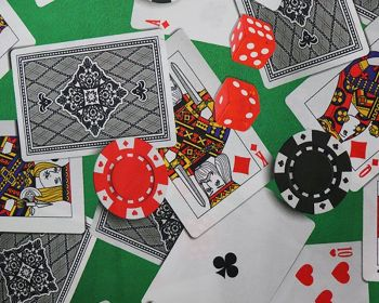 """Little Johnny Casino Digital Cotton Chips Gambling Fabric Material 59"""" Per Metre FREE DELIVERY"""