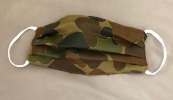 Adult's Handcrafted Reusable Washable Fabric Face Mask Covering Raising Money For Mind Army Camouflage Khaki