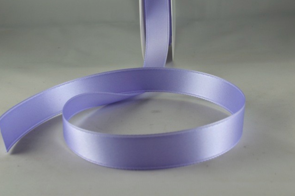 Double Sided Satin Ribbon 7mm 25 Metre Reel Or By The Metre in Light Lilac