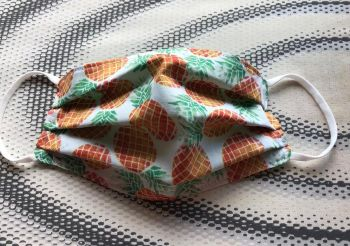 Adult's Handcrafted Reusable Washable Fabric Face Mask Covering Raising Money For Mind Pineapples & Green