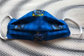 Adult's Handcrafted Reusable Washable Fabric Face Mask Covering Raising Money For Mind Harry Potter Ravenclaw Blue