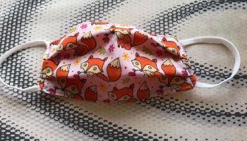 Kid's Handcrafted Reusable Washable Fabric Face Mask Covering Raising Money For Mind Foxes & Orange
