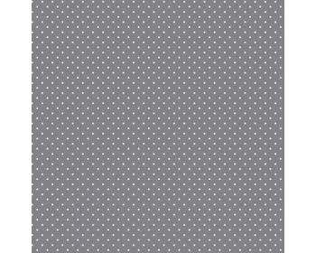 "100% Cotton Fabric Grey White Polka Dot / Pinspot 57"" Per Metre"