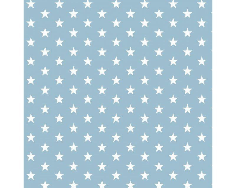 Stars 100% Cotton Sky Blue 145cm / 57