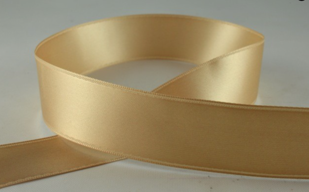 Double Sided Satin Ribbon 10mm 25 Metre Reel Or By The Metre in Pale Brown