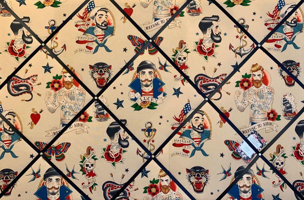 Custom Handmade Bespoke Fabric Pin Memo Notice Photo Cork Memo Board With A