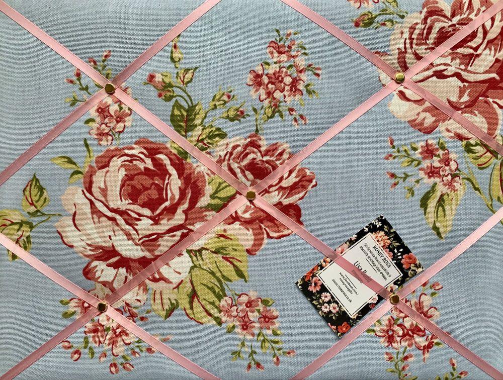 Custom Handmade Bespoke Fabric Pin Memo Notice Photo Cork Memo Board With C