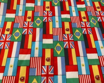 Flags Cotton Poplin 56 inch By The Metre FREE DELIVERY