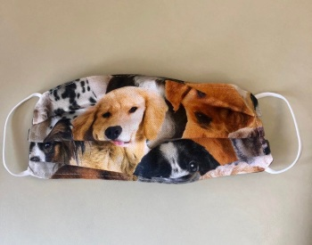Adult's and Kid's Handcrafted Reusable Washable Fabric Face Mask Covering Raising Money For Mind Dogs & Puppies