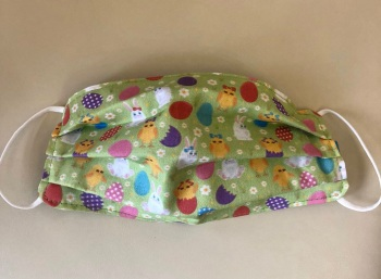 Adult's & Kid's Handcrafted Reusable Washable Fabric Face Mask Covering Raising Money For Mind Easter Chicks & Bunnies